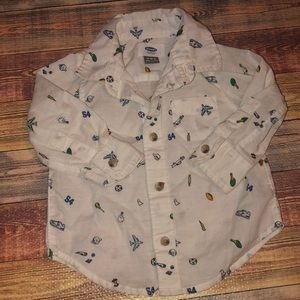 BABY BOY BUTTON DOWN - like new